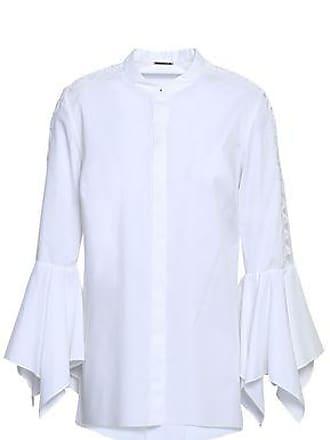 Elie Tahari Elie Tahari Woman Zila Guipure Lace-trimmed Stretch-cotton Poplin Shirt White Size M