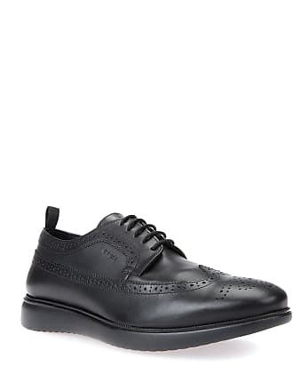 Geox Mens Leather Lace-Up Dress Shoes