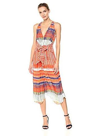 Ramy Brook Womens Printed ELIA Dress, Tiger Lily Combo Large