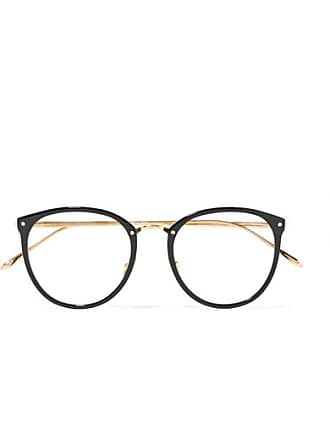 cf87c1b2859a Linda Farrow 251 C1 Round-frame Acetate And Gold-plated Optical Glasses -  Black