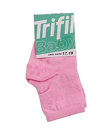 Trifil Meia Trifil Bebê Basica Antiderrapante Rosa 17-19