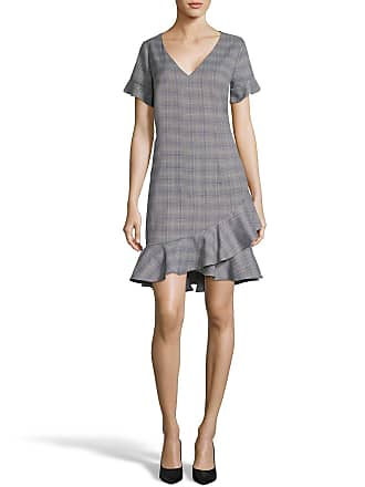 5twelve Short-Sleeve V-Neck Menswear-Plaid Dress