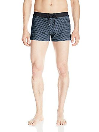 b4f4518ec4 Sauvage Mens Retro Lycra Diamond Pattern Swim Trunk, Black, X-Large