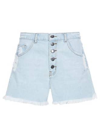 Vi And Co Shorts Cintura Alta Jeans Vi And Co - Azul