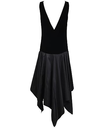 209a9b6bcd Lanvin Haute Couture Black Velvet   Taffeta Cocktail Dress W hanky Hem  No.91366
