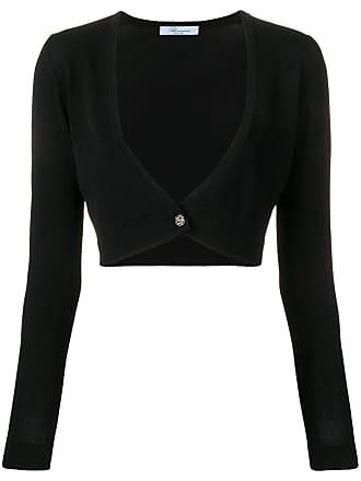 Blumarine cropped cardigan - Preto