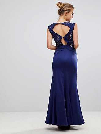 7723290f59c Little Mistress A Line Bridesmaid Maxi Dress With Lace Inserts