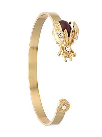 OLYMPIAH Bracelete Alverare com aplicações - Dourado