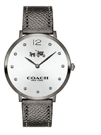 cb5c6bff69e27 Coach Womens Slim Easton Gray Leather Strap Watch 35mm 14502686