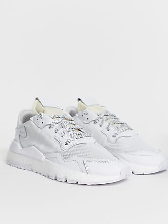 new concept 87f88 b8560 adidas Originals Nite - Baskets de jogging - Triple blanc - Blanc