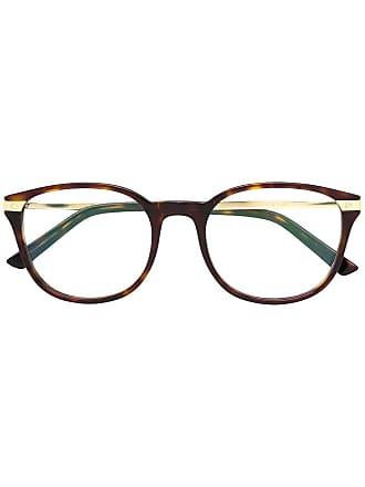 Cartier Armação de óculos redonda - Marrom