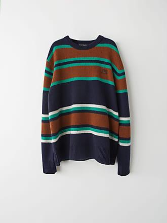 Acne Studios FA-UX-KNIT000011 Navy Multicolor Knit sweater