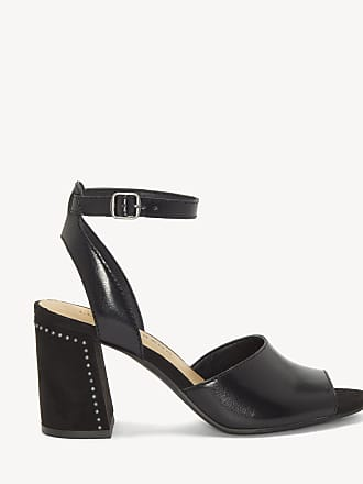 Lucky Brand Womens Verlena Flare Heels Sandals Black Size 7.5 Leather From Sole Society