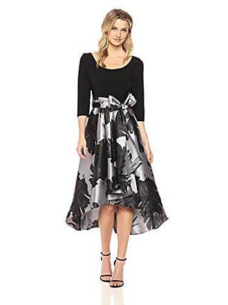 47184bf0 R&M Richards Womens Plus Size 1PC Print Poly Duchess Twill HI/LO Dress,  Black