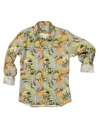 Panareha MAUI linen flowers shirt grey (limited edition)