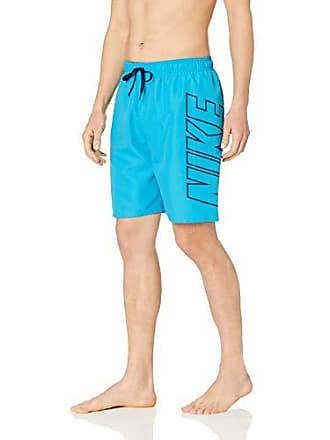 e6e82e9790 Nike Swim Mens Logo Breaker 9 Volley Short Swim Trunk, Light Blue Fury,  Small