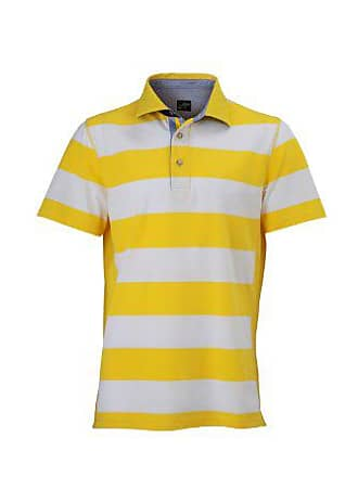 89871b4d0feb56 James   Nicholson Herren Poloshirt Polo Mens Maritime gelb  (Sun-Yellow White)