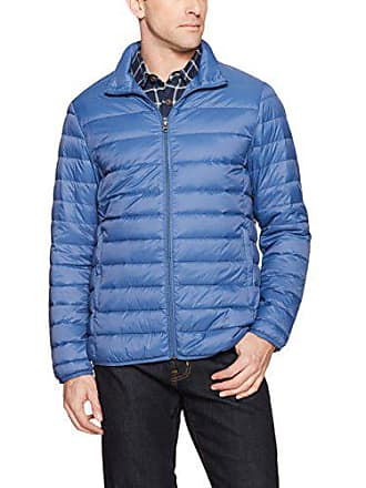 Amazon Essentials Mens Lightweight Water-Resistant Packable Down Jacket, Blue, Large