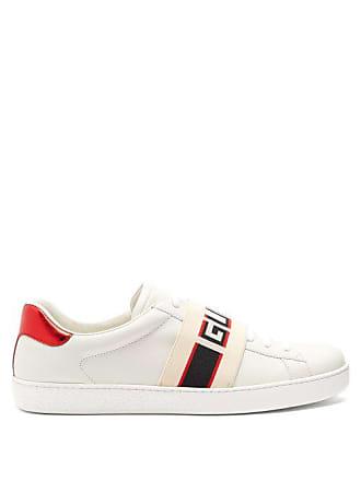 db074a11dcf Gucci Ace Jacquard Stripe Leather Trainers - Mens - White Multi