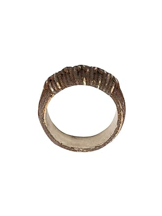 Tobias Wistisen ridged ring - Narrow Rust Twist Arg: 13 Grs