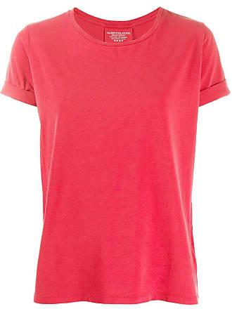 Majestic Filatures Camiseta com acabamento de punho nas mangas - Vermelho