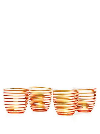 Yali Glass Set Of Four A Filo Goto Tumblers - Orange