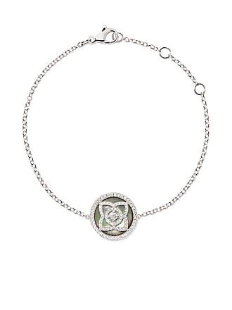 165952d8726c3d De Beers 18kt white gold Enchanted Lotus Mother-of-Pearl diamond bracelet