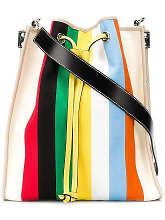 J.W.Anderson Bolsa tote com listrado arco-íris - Neutro