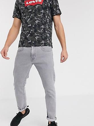 Levi's 512 - Stålgrå, stentvättade slim jeans med avsmalnande passform