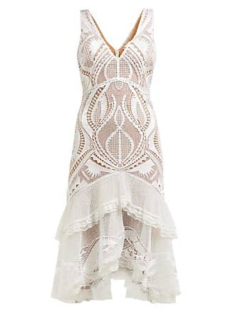 Jonathan Simkhai Guipure Appliqué V Neck Dress - Womens - White