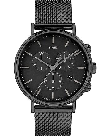 Timex Watch Mens Fairfield Chronograph 41MM Mesh Band Black Item Tw2R27300Vq
