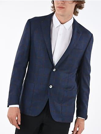 Corneliani giacca a 2 bottoni GATE windowpane check revers classico taglia 56