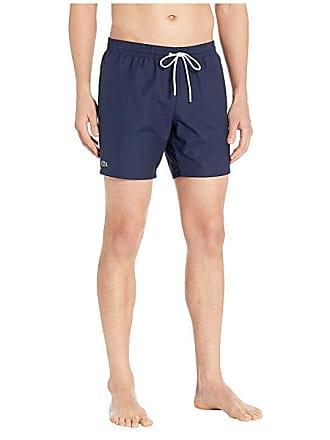 9eda43ba2a481 Lacoste Solid Taffeta Mid Length Swimmer (Navy Blue/Creek) Mens Swimwear