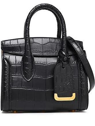 Alexander McQueen Alexander Mcqueen Woman Heroine Croc-effect Leather Shoulder Bag Black Size