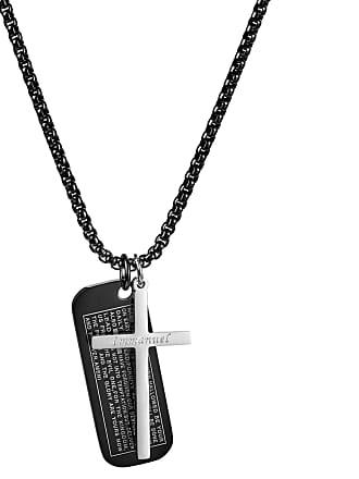 6ccff01be Fort Tempus Collar con cruz y placa de identificación negra Immanuel