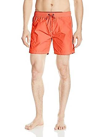 26d3c673c2 Diesel Mens Dolphin 4 Inch Solid Boxer Swim Short, Deep Orange, Medium