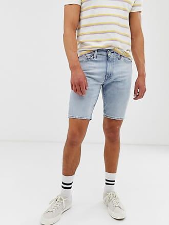 ce952c31223f7f Levi's 511 - Pantaloncini di jeans con bordi orlati slim a vita bassa lavaggio  chiaro Gallatin