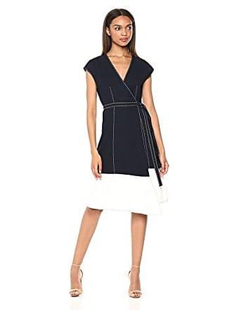 Joie Womens Mahesa Short Sleeve Wrap Dress, Midnight/Porcelain, XS