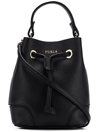 Furla logo printed bucket bag - Black