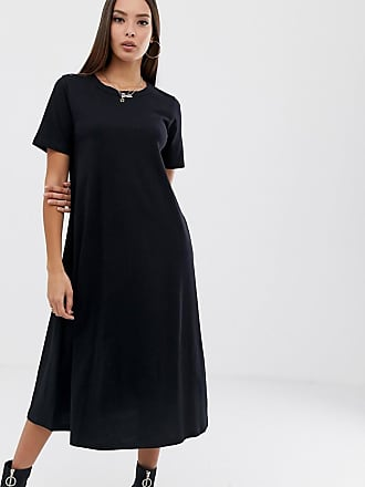 Asos huge midi swing t-shirt dress - Black