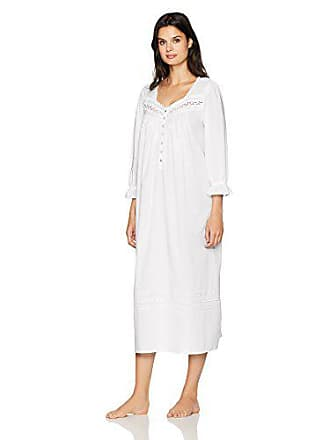 090d5d36f11e Eileen West Womens Cotton Lawn Long Sleeve Ballet Nightgown, Solid White,  XS. USD $68.99