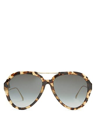 746eef3768 Fendi Oversized Aviator Sunglasses - Womens - Tortoiseshell