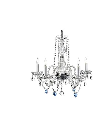 Gallery T22-2409 5 Light 24 Wide Crystal Chandelier Clear Indoor
