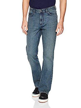 Calvin Klein Mens Modern Boot Cut Jean, Atlas Blue, 31Wx32L