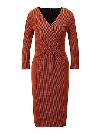 c4deda6abd11ee Madeleine Jerseykleid mit 3/4-Arm Damen schwarz/orange / orange