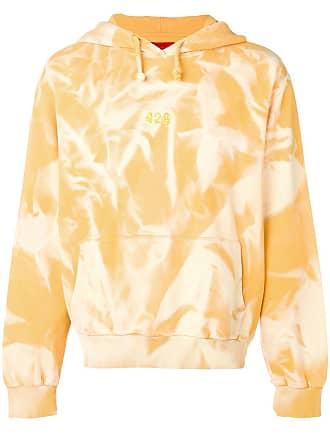 424 Moletom com estampa tie-dye - Amarelo