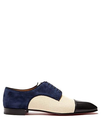 Christian Louboutin Daviol Suede And Leather Dress Shoes - Mens - Multi