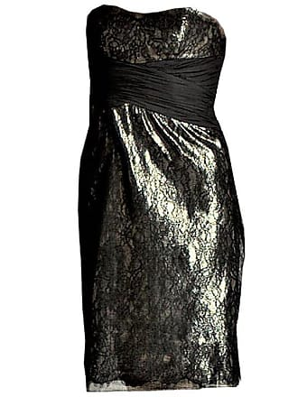 2e032a560d9 Badgley Mischka New Badgley Mischka Couture Black Lace And Gold Lame Cocktail  Dress Sz 6