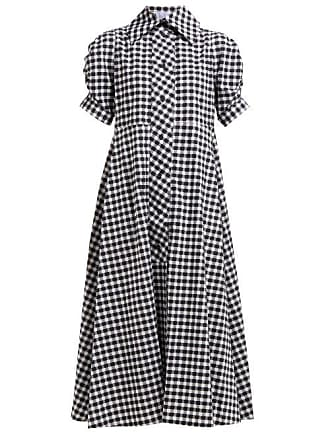 Thierry Colson Vichy Tiffen Check Cotton Midi Shirtdress - Womens - Black Multi