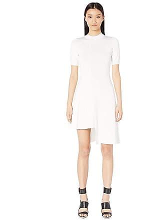 Yigal AzrouËl Desconstructed Knit Dress with Asymmetrical Hem (Marshmallow) Womens Dress